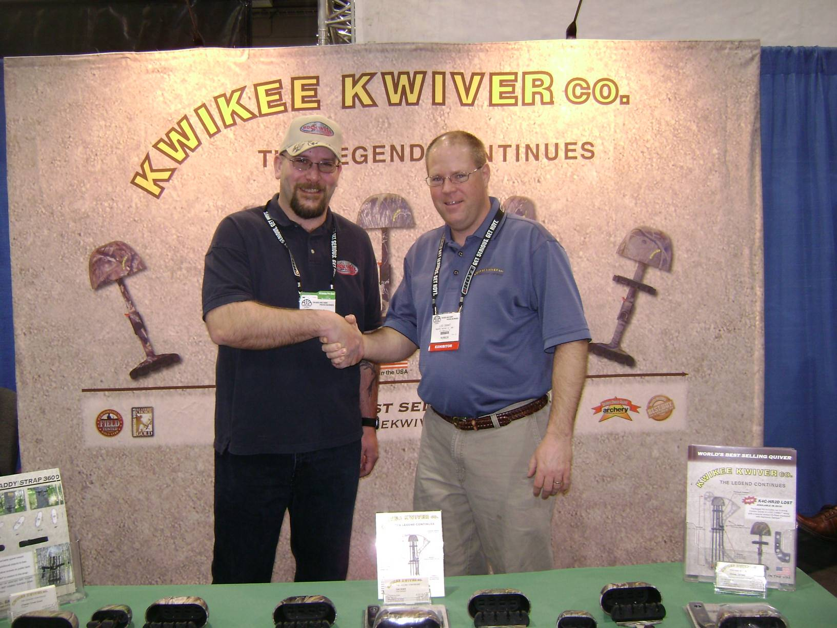 Mark with Mr. Grant from Kwikee Kwiver
