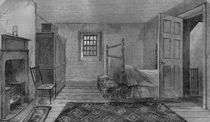 Burns Deathbed Dumfries - Died 21st July, 1796