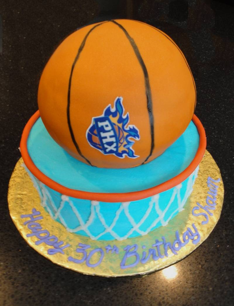3D Phoenix Suns Basketball Theme Birthday