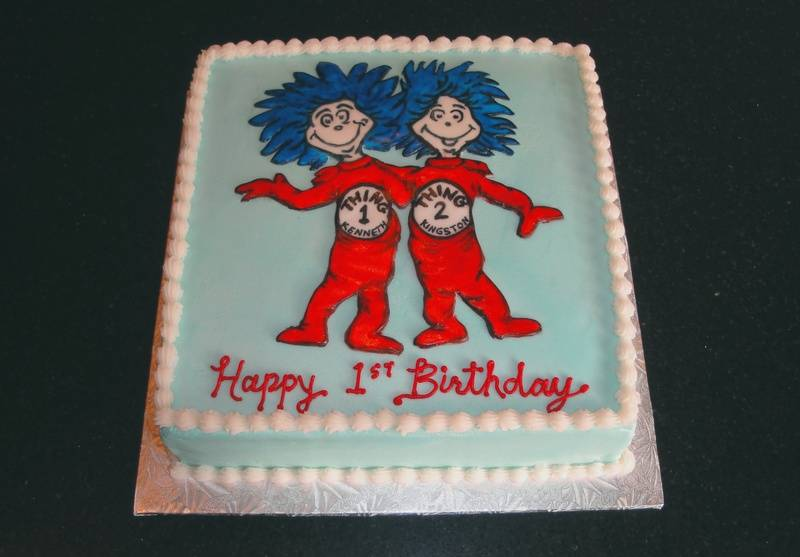 Thing 1 & Thing 2 Twins First Birthday
