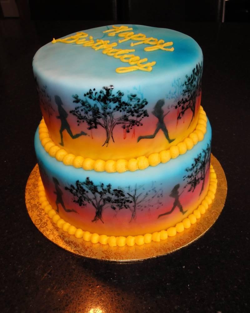 Marathon Runners Birthday Cake