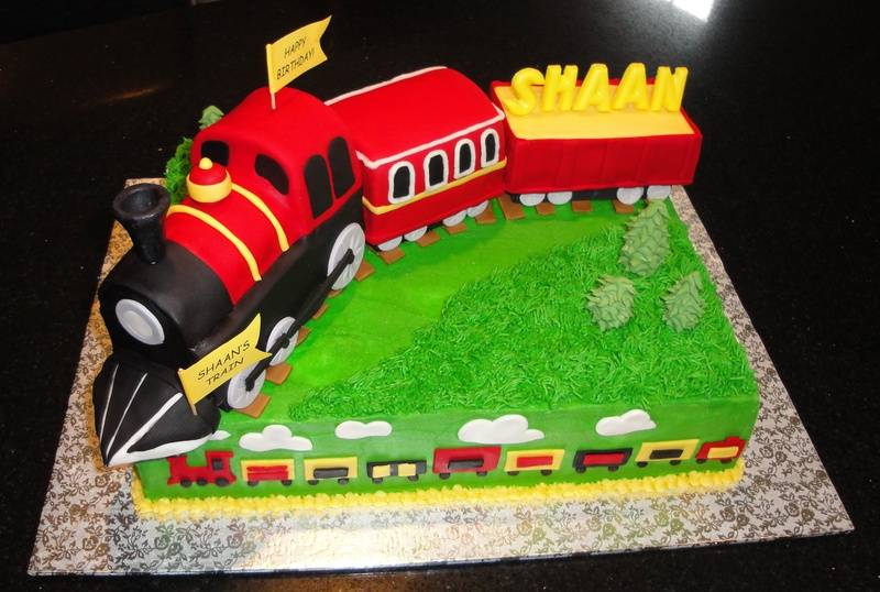 First Birthday 3D Train Cake for Shaan