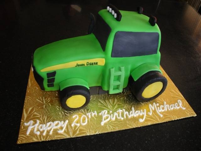 3D John Deere Tractor 20th Birthday Cake