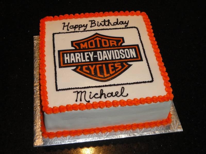 Harley Davidson 40th Birthday Cake