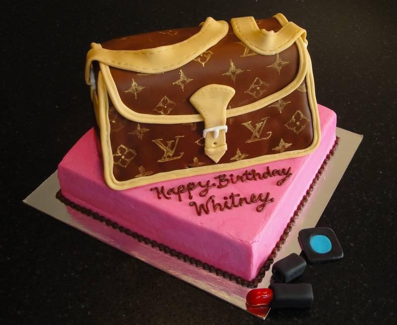 Louis Vuitton Purse 3D Cake