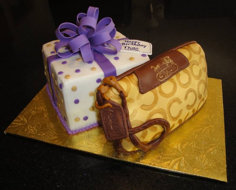 Present Cake and 3D Coach Purse