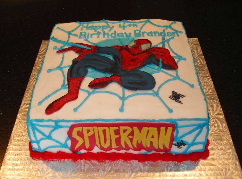 Spider-Man Theme Cake