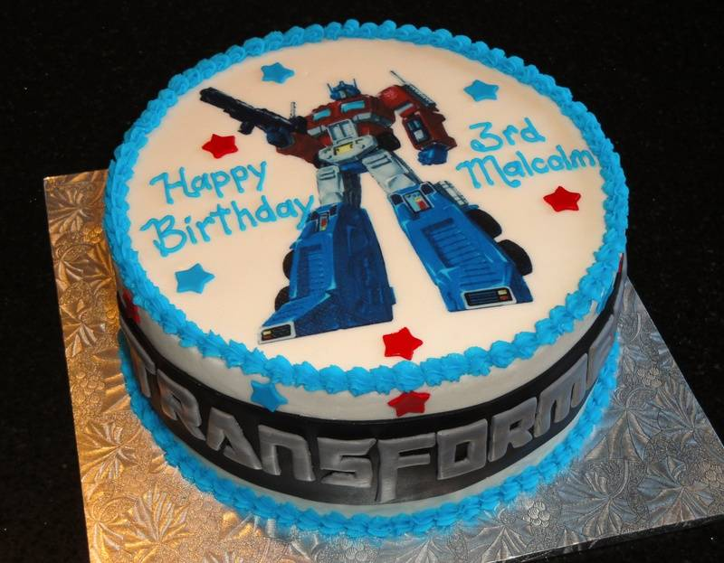 Transformers Theme Birthday Cake