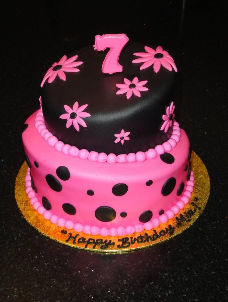 Topsy Turvy 7th Birthday cake