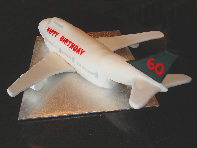 60th Birthday Celebration Cake - Air Canada 747 Cake