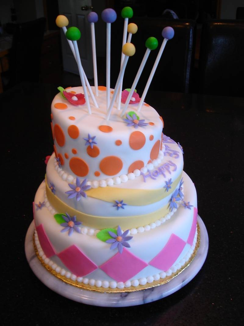 Topsy Turvy Birthday Cake