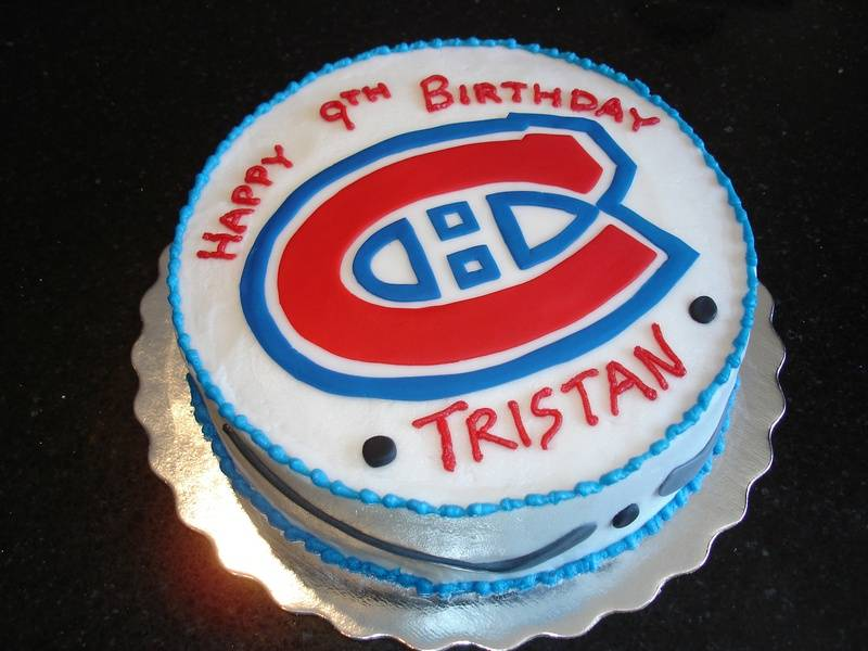 Montreal Canadiens Theme Birthday Cake