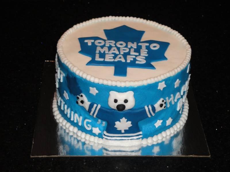 Toronto Maple Leafs & Carlton the Bear Cake
