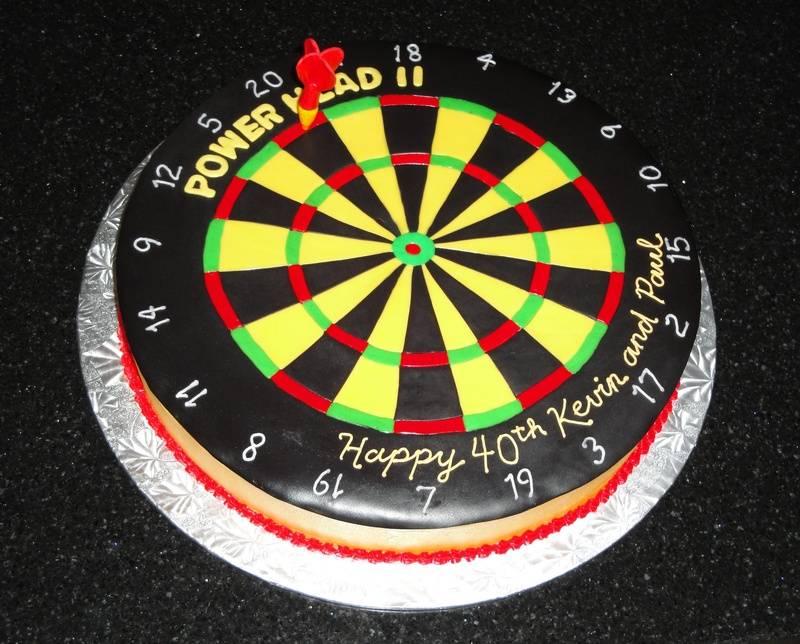 3D Dart Board Birthday Cake