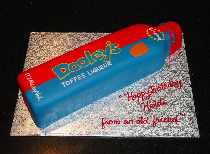 3D Dooley's Toffee Liqueur bottle Cake