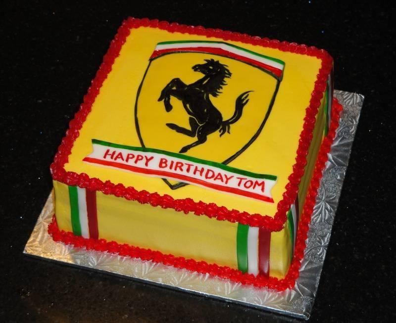 Ferrari Themed Birthday Cake