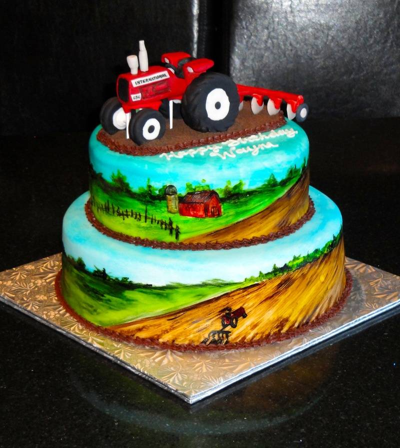 IH Tractor 60th Birthday Cake