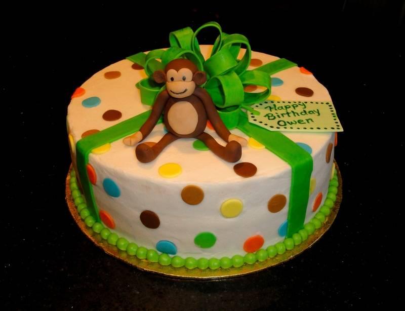 1st Birthday Monkey Theme Cake
