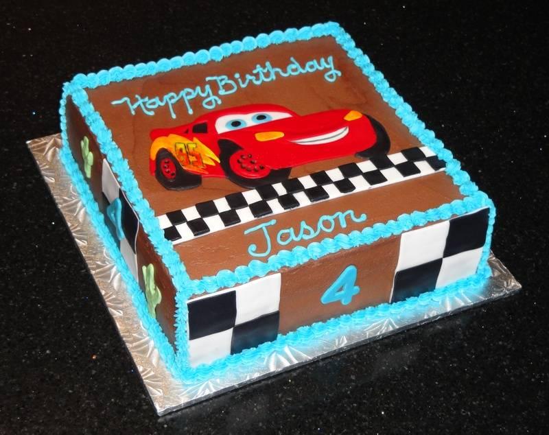 Lightning McQueen Cars theme cake