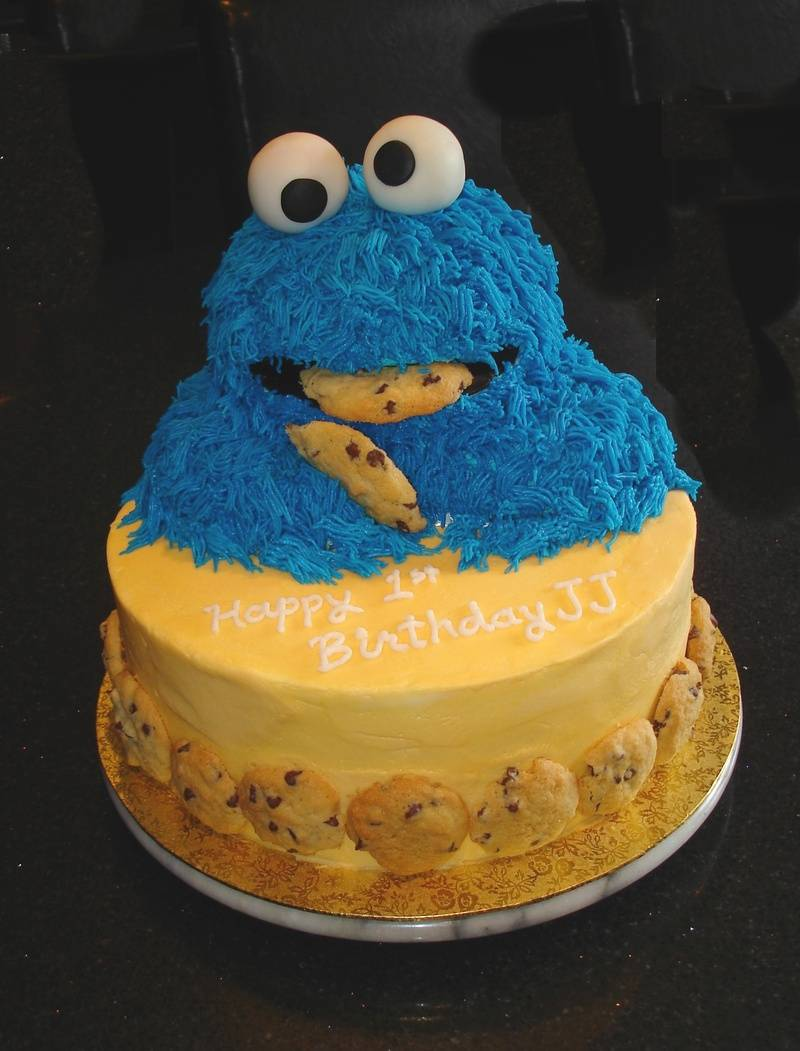 3D Cookie Monster Theme - 1st Birthday