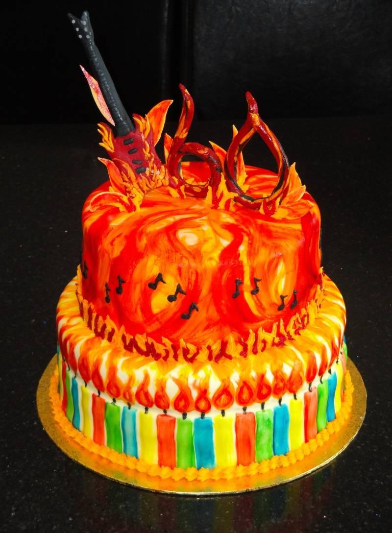 Rockin 60th Birthday Celebration Cake