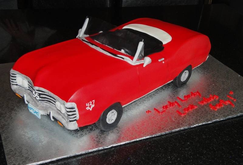 3D Car 1967 Chevy Impala SS Convertible 40th Bday Cake