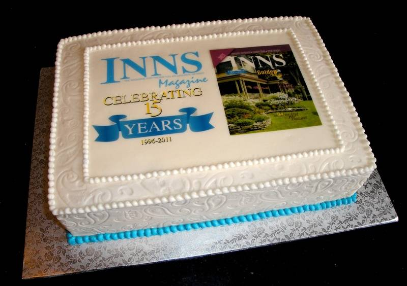 Inns Magazine 15th Anniversary Cake