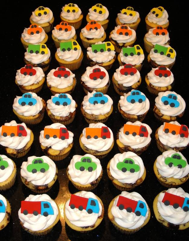 Cars and Trucks Cupcakes