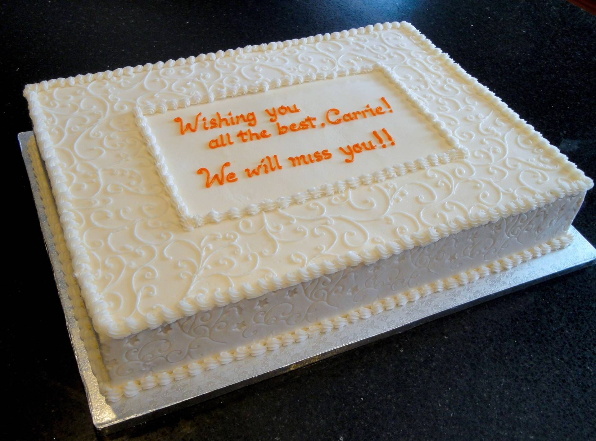 We'll Miss You!  Corporate Cake