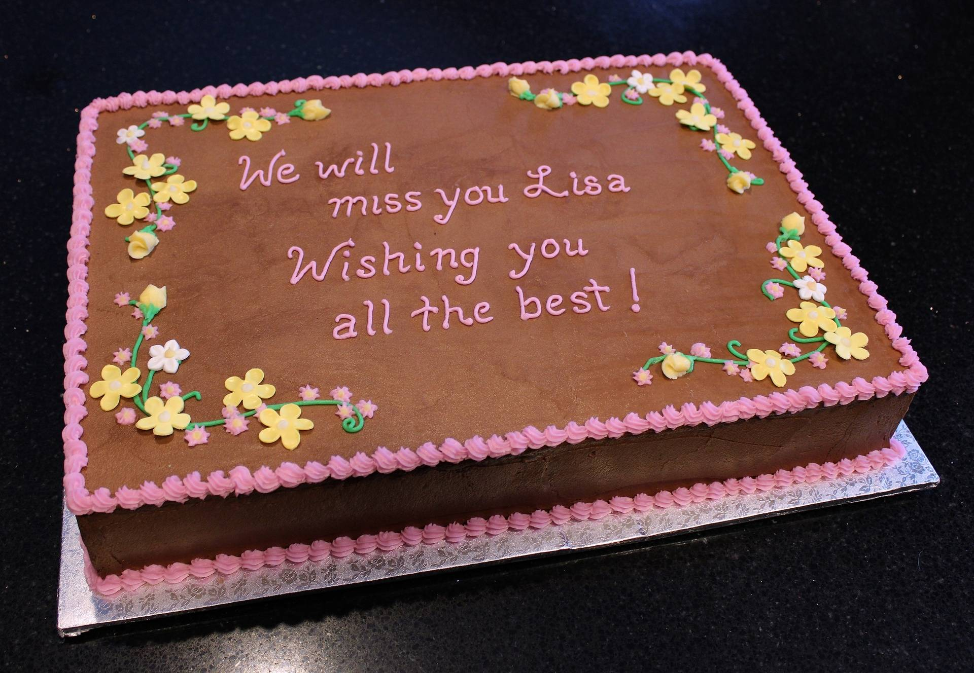 We'll Miss You!  Farewell cake
