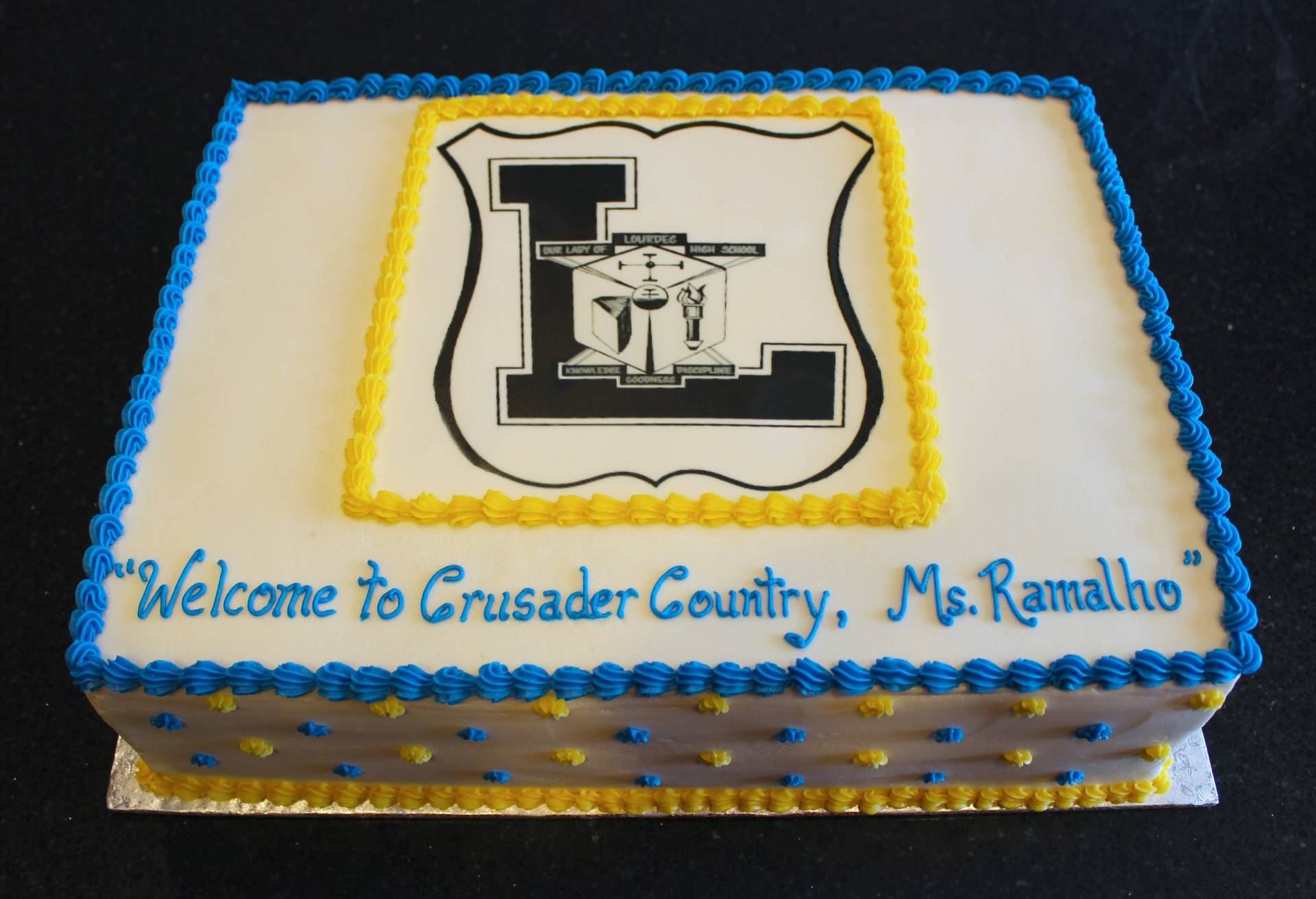 Our Lady of Lourdes Crusader Country Cake