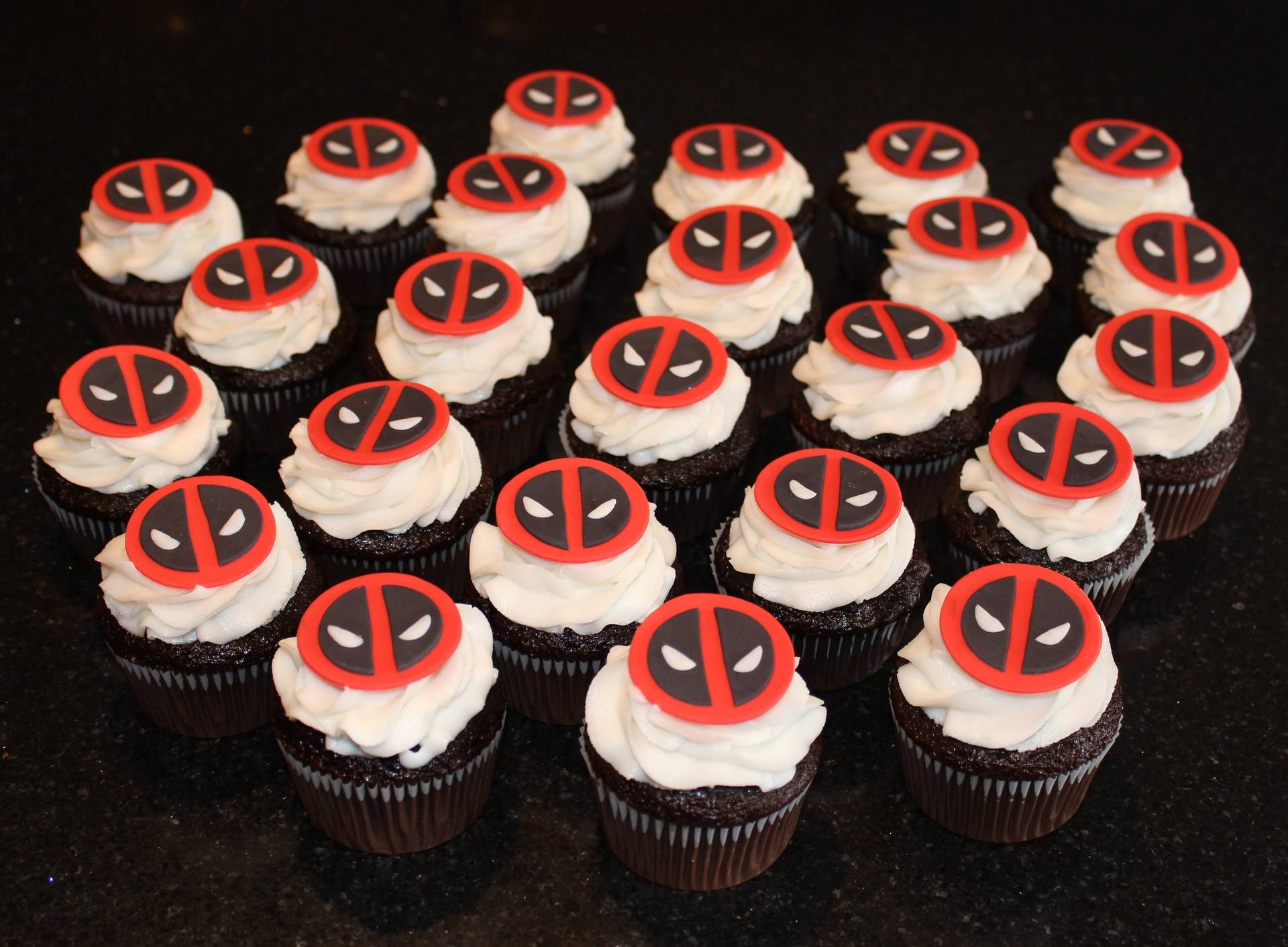 Deadpool Theme Cupcakes