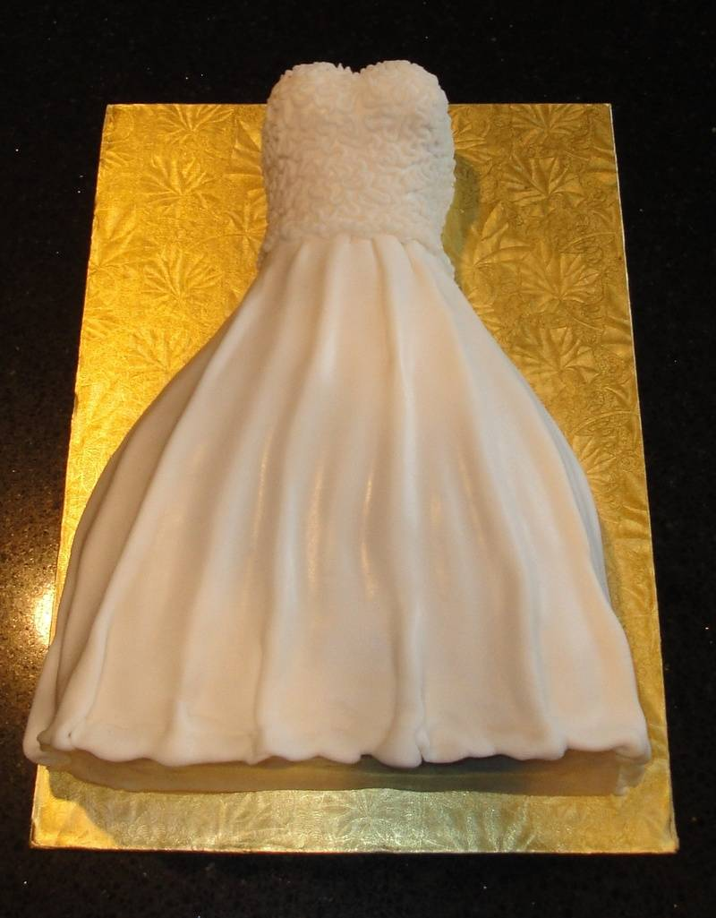 Bridal Shower 3D Wedding Dress Cake