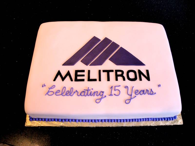 Melitron 15th Anniversary Celebration Cake