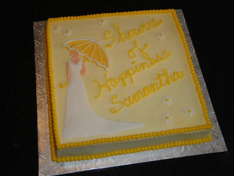 Showers of Happiness Bridal Shower Cake