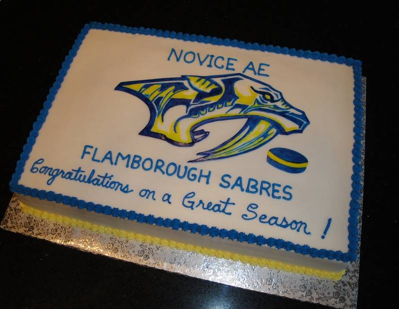 Flamborough Sabres Hockey Celebration Cake