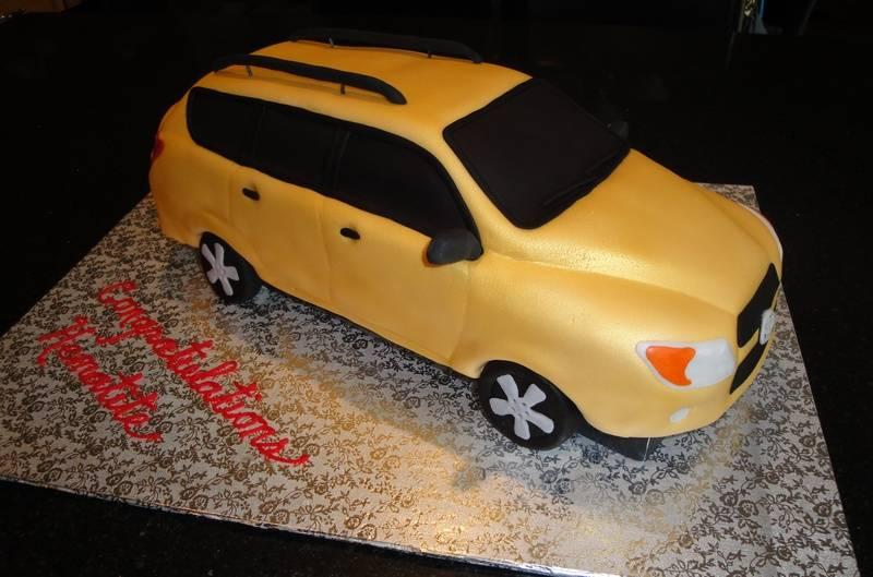 Toyota RAV4  3D Car cake