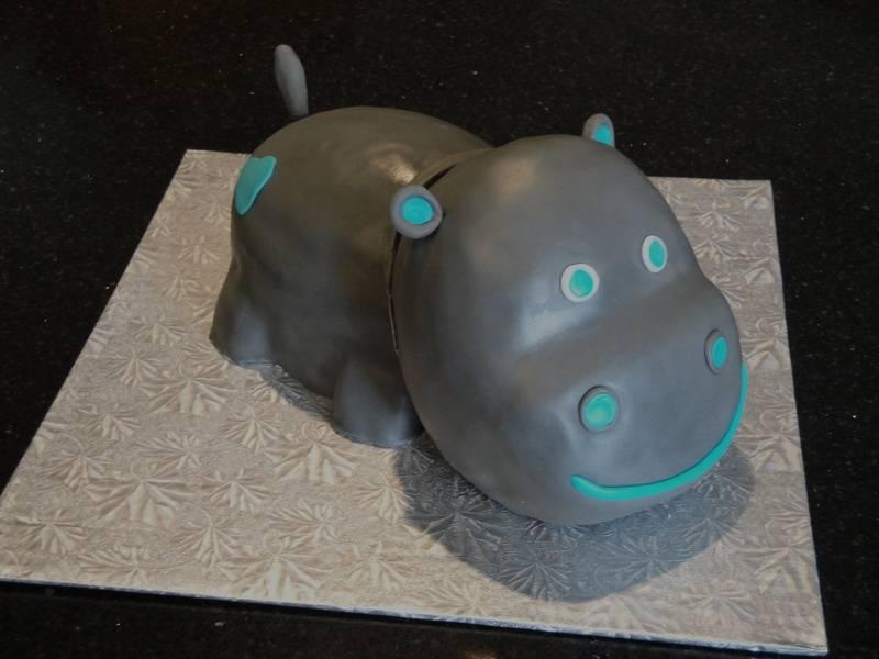 Baby Shower Hippo Cake