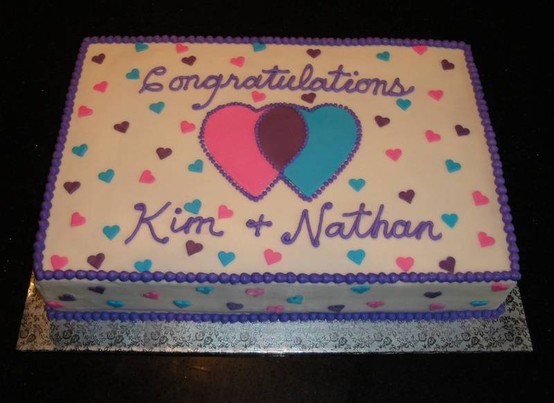Two Hearts - Engagement Party Cake