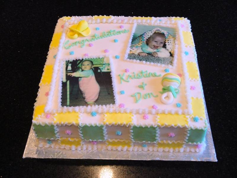 Baby Quilt design baby shower cake