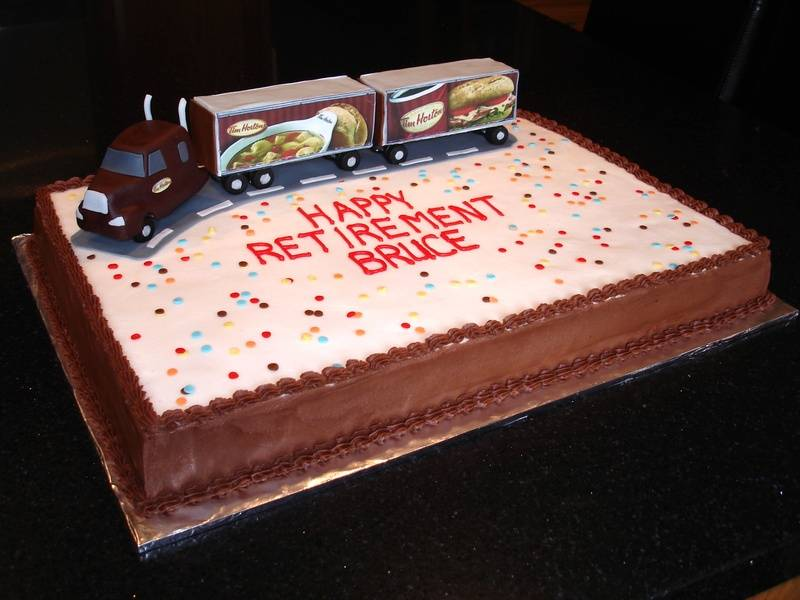 Tim Hortons Retirement Party Cake