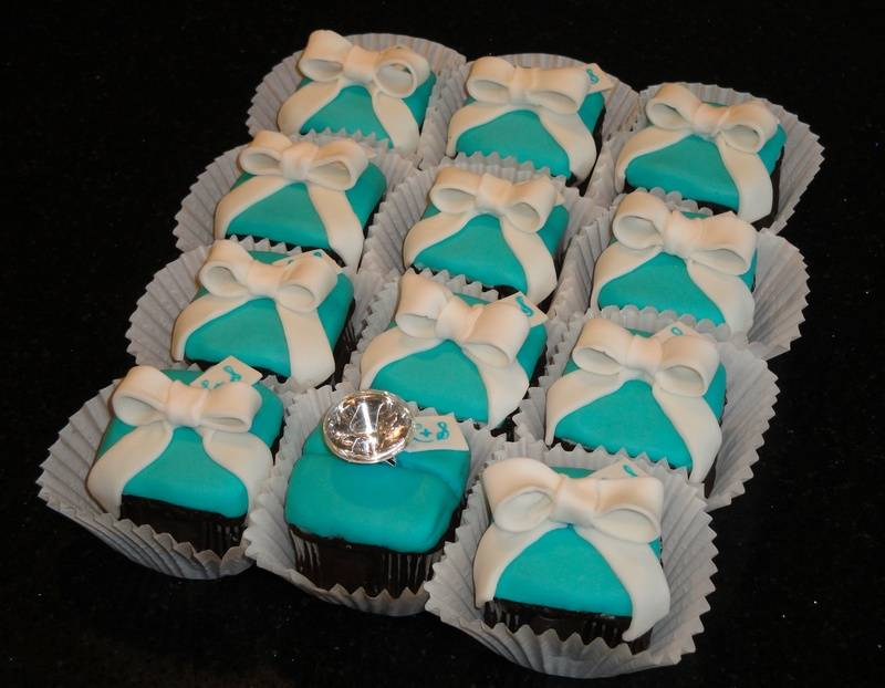 Tiffany box Engagement Ring Cupcakes