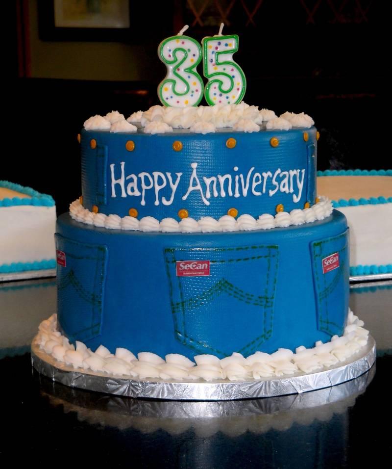 35th Corporate Anniversary cake