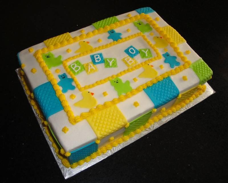 Baby Blanket Theme Baby Shower Cake