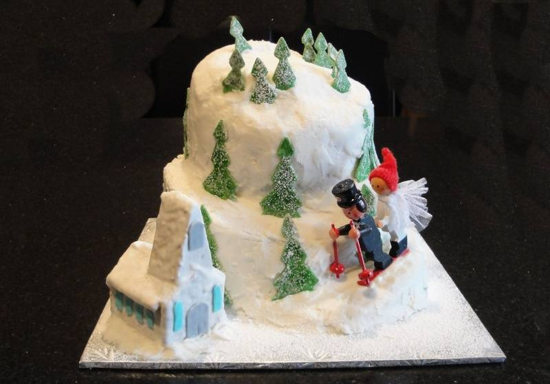 Grooms Cake - Ski Mountain Theme