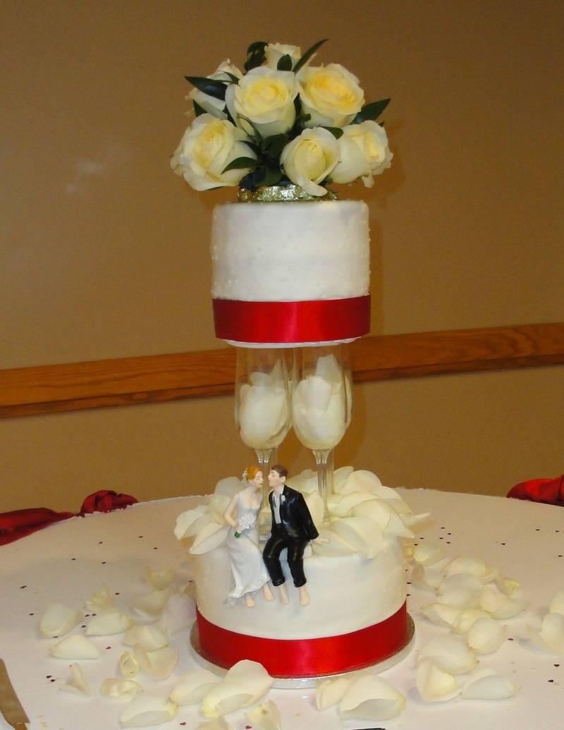 Champagne Flute Wedding Cake