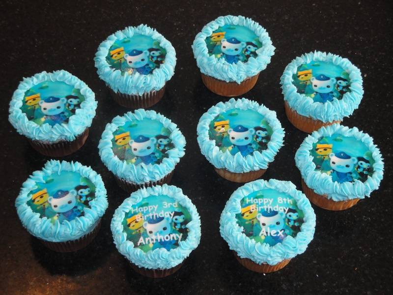 Octonauts Birthday Cupcakes for Alex and Anthony