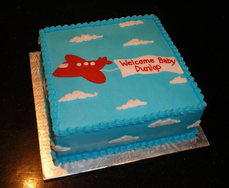 Baby Shower Air Plane Cake