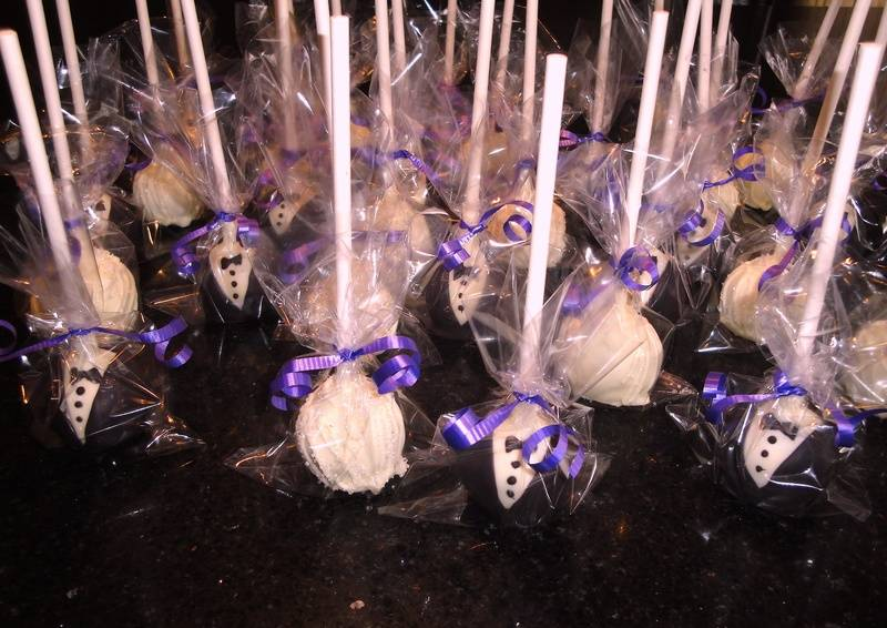 Engagement Party Bride & Groom Cake Pops