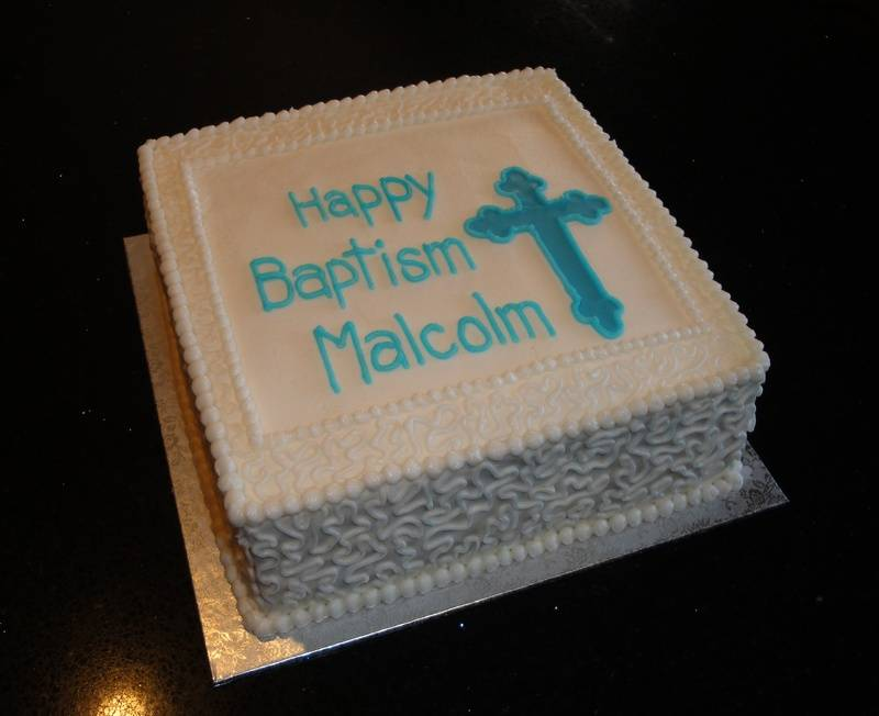 Baby Baptism Cake